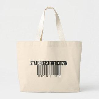 Estado registrado bolsa tela grande