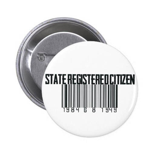 Estado registrado pin redondo 5 cm