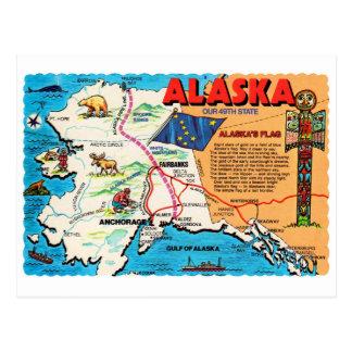 Estado retro de Alaska 49.a de la postal del