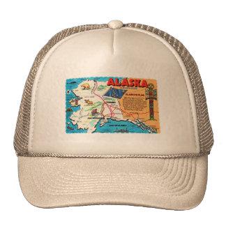 Estado retro de Alaska 49.a de la postal del kitsc Gorro De Camionero