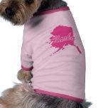 Estado rosado Alaska Camisas De Perritos