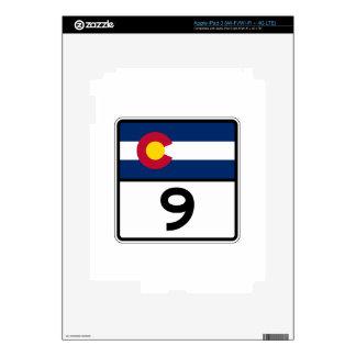 Estado Route9 de Colorado Pegatina Skin Para iPad 3
