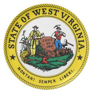 Estado seal.jpg de Virginia Occidental Plato De Cena