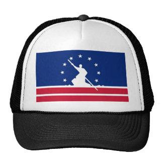 Estado unido bandera América Virginia de la ciudad Gorros Bordados