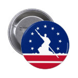 Estado unido bandera América Virginia de la ciudad Pin