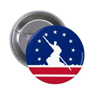 Estado unido bandera América Virginia de la ciudad Pin Redondo 5 Cm