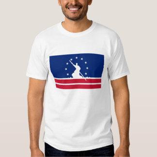 Estado unido bandera América Virginia de la ciudad Remera