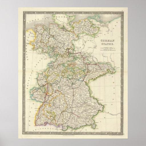 Estados alemanes póster