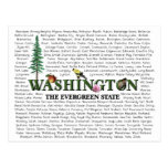 Estados americanos - postal de Washington