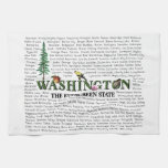 Estados americanos - toalla de cocina de Washingto