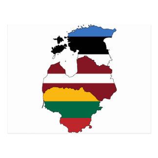 Estados bálticos postal