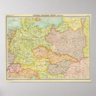Estados centroeuropeos políticos posters