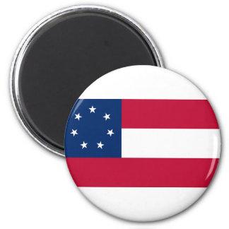 Estados confederados de la bandera de América Imán Redondo 5 Cm