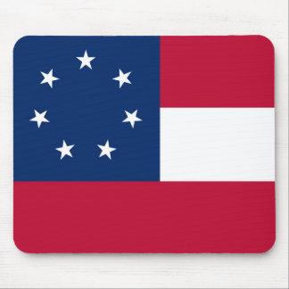 Estados confederados de la bandera de América Mousepads