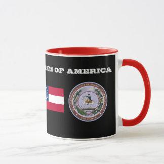 Estados confederados de la taza histórica de