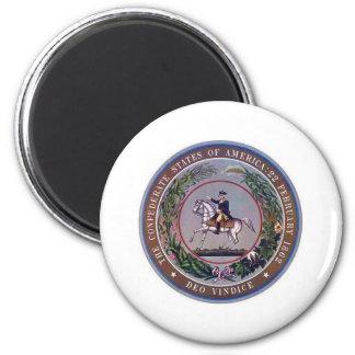 Estados confederados del sello de América Imán Redondo 5 Cm