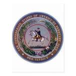 Estados confederados del sello de América Postales