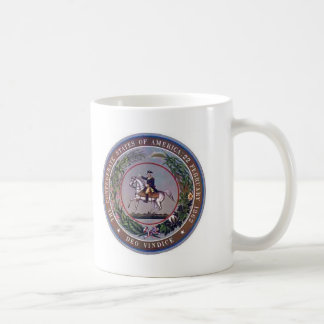 Estados confederados del sello de América Tazas De Café