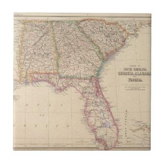 Estados de Carolina del Sur, de Georgia, y de Azulejo Cuadrado Pequeño
