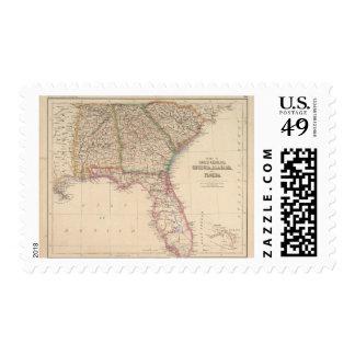 Estados de Carolina del Sur, de Georgia, y de Sello Postal