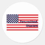 Estados de Jewnited Etiquetas Redondas