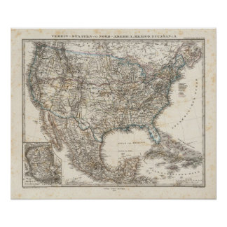 Estados de la asociación de Norteamérica, México Póster