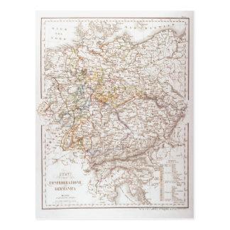 Estados de la confederación alemana tarjeta postal