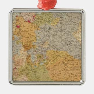 Estados de la última confederación germánica adorno navideño cuadrado de metal