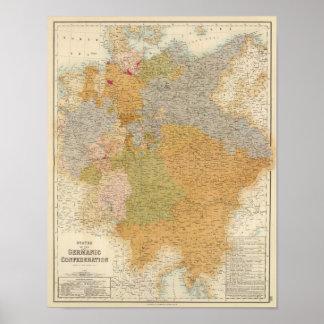 Estados de la última confederación germánica póster