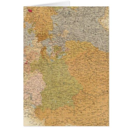 Estados de la última confederación germánica tarjeta de felicitación