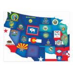 Estados de los E.E.U.U. Postales
