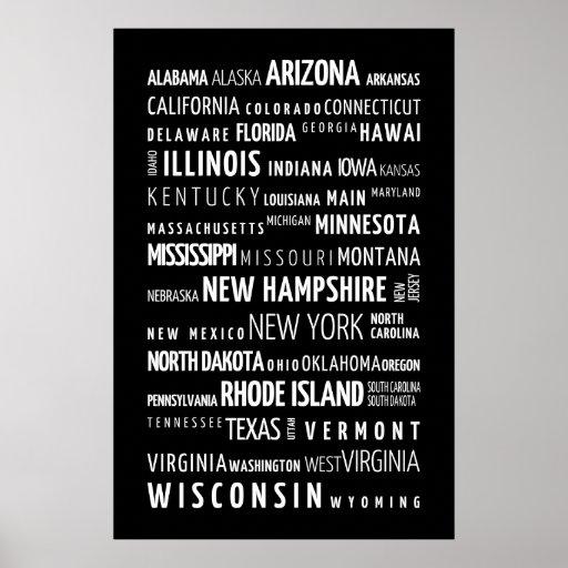 Estados de los E.E.U.U. Poster