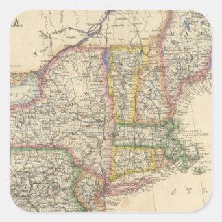 Estados de Maine, New Hampshire, Vermont Pegatina Cuadrada
