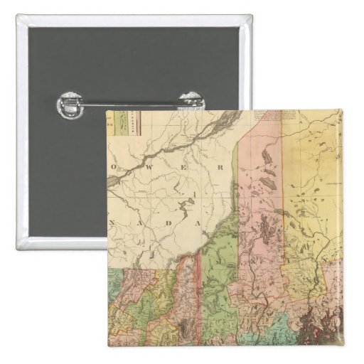 Estados de Maine, New Hampshire, Vermont Pin