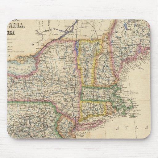 Estados de Maine, New Hampshire, Vermont Tapete De Ratones
