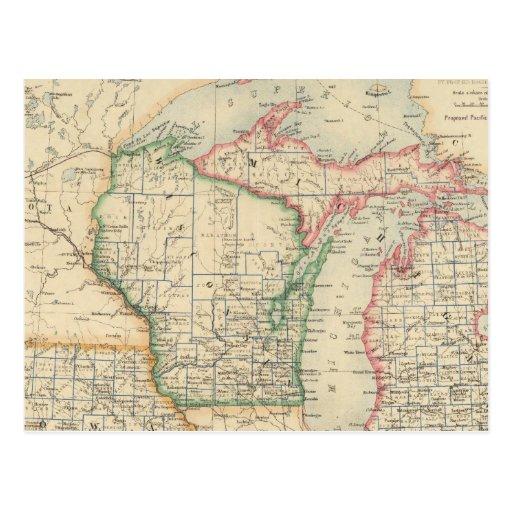 Estados de Michigan, de Wisconsin y de Iowa Postal