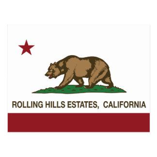 Estados de Rolling Hills de la bandera de la repúb Tarjeta Postal