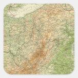 Estados del noreste pegatina cuadrada