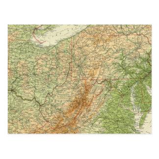 Estados del noreste tarjetas postales
