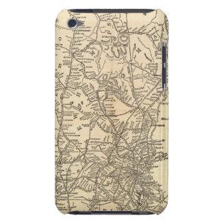 Estados ferroviarios de Nueva Inglaterra del mapa iPod Case-Mate Cárcasa