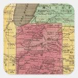 Estados Occidentales 2 Pegatinas Cuadradases Personalizadas