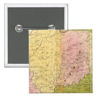 Estados Occidentales Pin Cuadrada 5 Cm