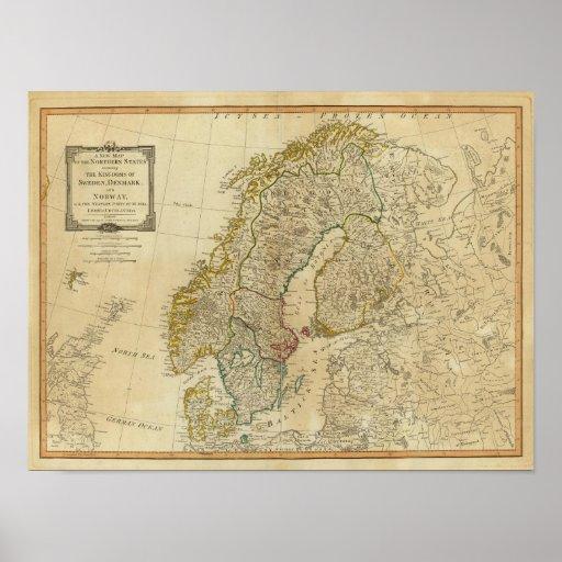 Estados septentrionales Escandinavia Impresiones