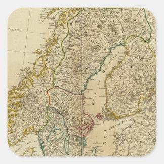 Estados septentrionales Escandinavia Pegatina Cuadrada