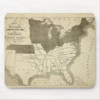 Estados sureños Mousepad 1861 Alfombrillas De Ratones