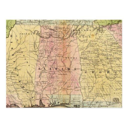 Estados sureños tarjetas postales