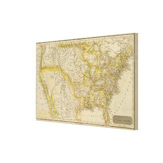 Estados Unidos 10 Impresión En Lona Estirada