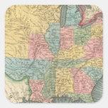 Estados Unidos 29 Calcomanías Cuadradass Personalizadas