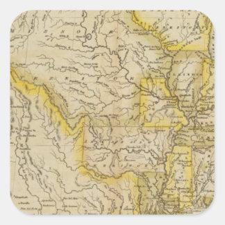 Estados Unidos 36 Calcomania Cuadradas Personalizadas