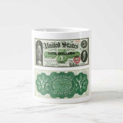 Estados Unidos $5 series del billete de banco de 1 Taza Grande